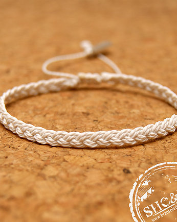 SHEandHE, Double braid -white