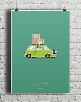 Mr. Bean - British Mini - plakat