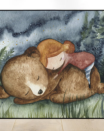 "Plakat A3 ""Sleeping with bear"""