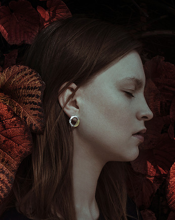 Filimoniuk, LABEL AMBER - glossy silver earrings