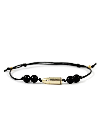 Unikke Design, Eyes On Target - mini bullet bracelet onyks
