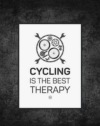 sport, plakat. Cycling is the best therapy