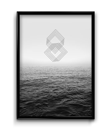 Geometric view #1  - plakat
