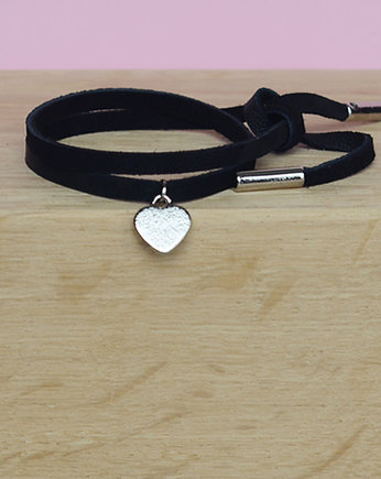 barboleta, mini black/colour silver heart love