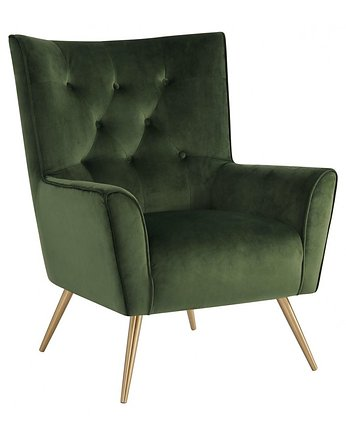 Fotel Bologna Forest Green Gold