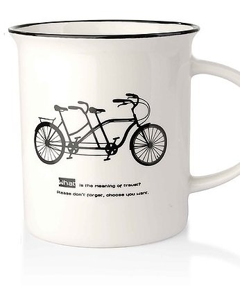 MIA home passion, Kubek Ceramiczny Bicycle White II
