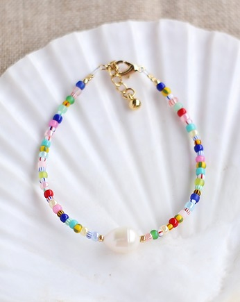 lebohobleu, Colorful Bracelet with Pearl