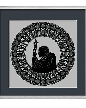 St. John Paul II (Kurpie Region Art papercut)