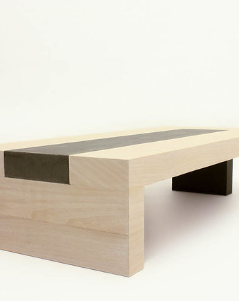QL Project, concrete & wood coffee table