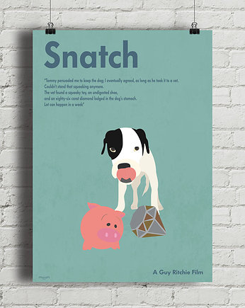 minimalmill, Snatch - Guy Ritchie - plakat fine art