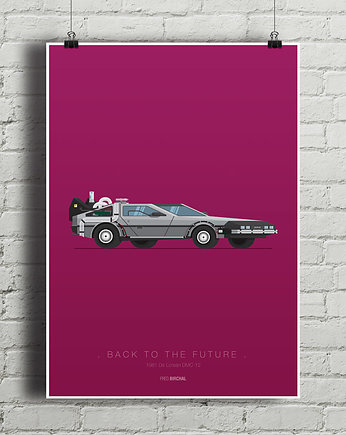 kino, Back To The Future - De Lorean DMC - plakat