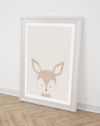 Miss Rabbit Mr Fox, Sarna plakat  50X70 / A3 / A4