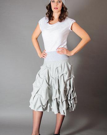 dd359dd9 Spódnica podwójnie spieniona midi SZARA - Moda - spódnice - midi ...