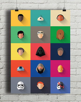 gwiezdne, Star Wars - New Icon Set - plakat giclee