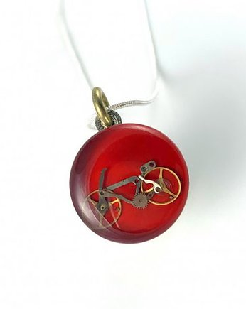 steampunk, Wisior - BIKE (RED)