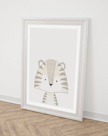 Miss Rabbit Mr Fox, Tygrys plakat  50x70 cm / A3 /A4