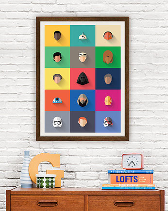 gwiezdne, Star Wars - New Icon Set - plakat giclee print