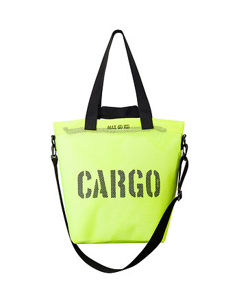 CARGO M-size bag - FLUO YELLOW MESH