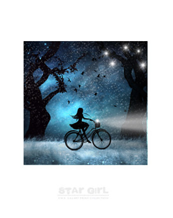 Star Girl Lazure Art Print Collection