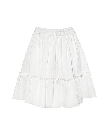 NEATNESS, SPÓDNICA MINI LOOSE N3 MUSLIN MILKY WHITE