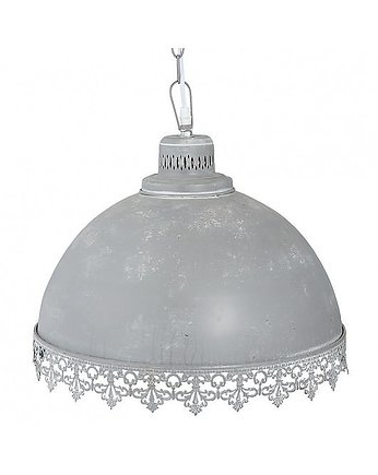 MIA home passion, Lampa Wisząca Metalowa Koronka Dark Grey