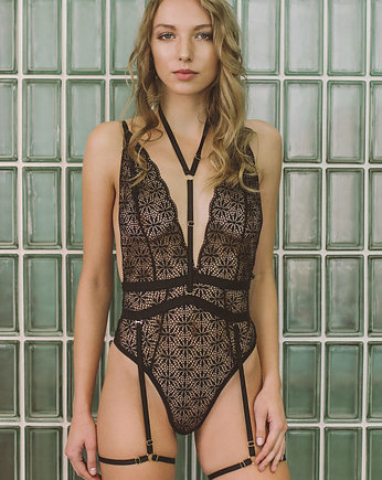 Heartbreaks and Promises Lingerie, harness Moody black