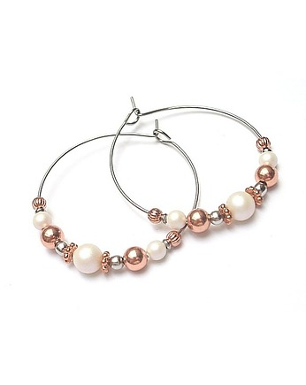 KiKa pracownia, Alloys Collection /pearls copper/ vol.2-kolczyki
