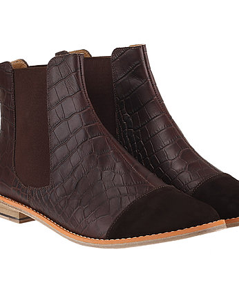 Rita Krzysiek HANDMADE SHOES, Brown Leather Chelsea Boots