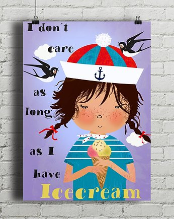 Ice Cream - plakat kuchenny art giclee