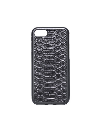 "iPhone 7 case ""Black Python"" etui skóra Pytona"
