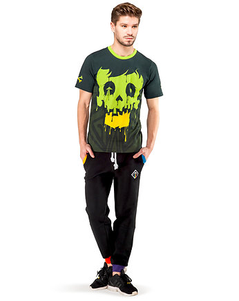 Moda na Halloween, Crystal Skull T-shirt (Green)