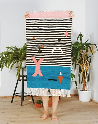 Makramy i kilimy,  SHAPES ON STRIPES | kilim 50x80