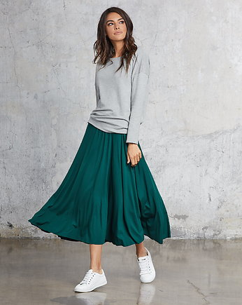 Flawless, MIDI EMERALD skirt