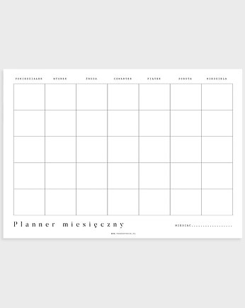 planer, Planner miesięczny A4, Basic