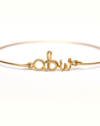 SHEandHE, Mini name bangle - napis do 6 znaków