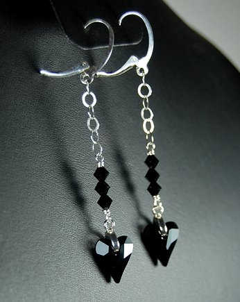 Ikati Jewellery, Long BLACK HEARTS
