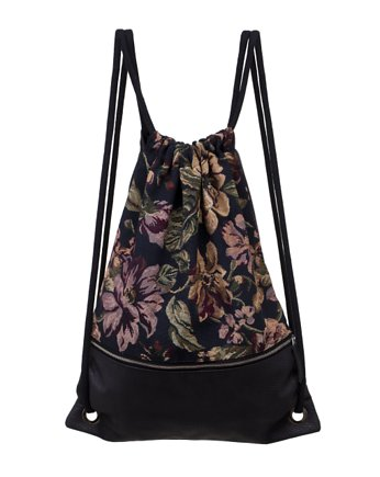 Floral Escape, backpack black flowers