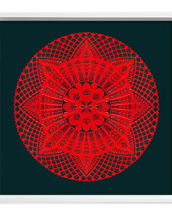 Fire-MANDALA Art Papercut (handmade artwork)_2
