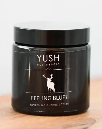 yush, Świeca sojowa FEELING BLUE? 120 ml -YUSH-