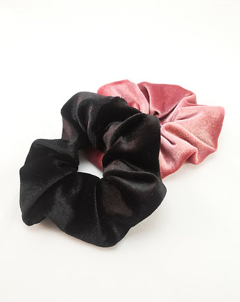 Dwupak: Scrunchie Pink & Black