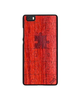 Smartwoods, OBUDOWA, HUAWEI P8 LITE, PUZZLE RED