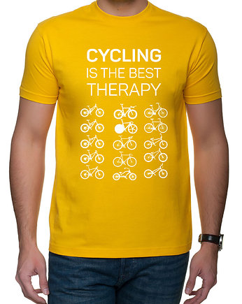 rower, Koszulka T-SHIRT. Cycling is the best therapy