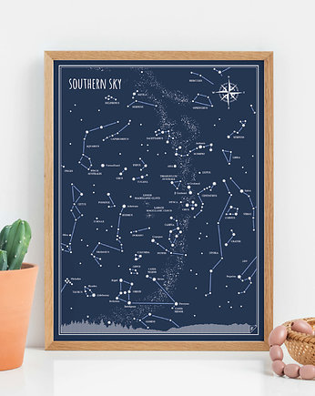 gwiazdozbiory, Plakat 30x40 cm - Southern Sky - ENGLISH