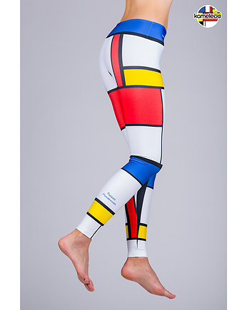 travel, Legginsy Plazas Moodernas Mondrian
