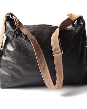 elfagado, torba - black&brown leather xl-
