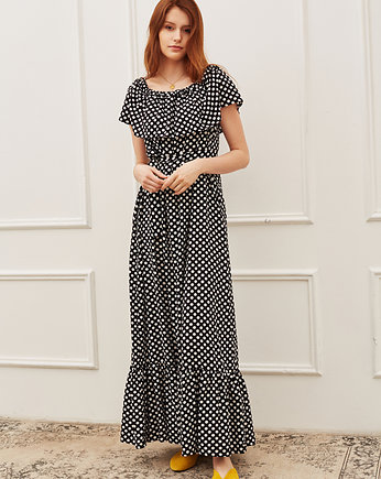 fashion, Sukienka boho maxi
