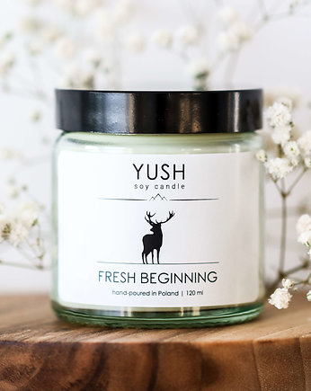 yush, Świeca sojowa FRESH BEGINNING 120 ml -YUSH-