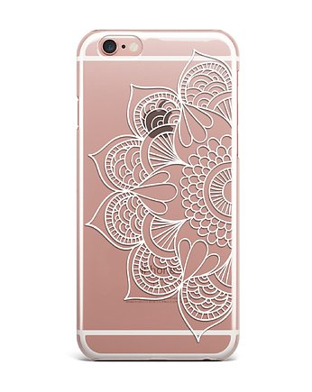 iphone case, MANDALA half iPhone case Etui Silikonowe