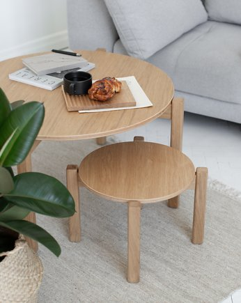 Stolik kawowy PIANO Coffee Table Round dąb