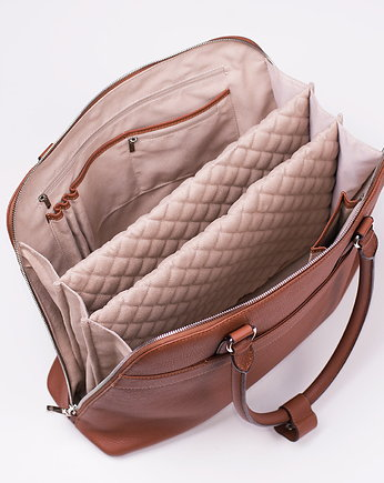 Torba na laptopa DIAMOND COUTURE COGNAC
